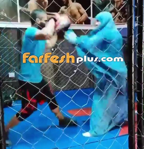 صورة رقم 2 - فيديو: فتاة محجبة تلاكم شابا بمهارة.. لم يمنعها حجابها من الرياضة