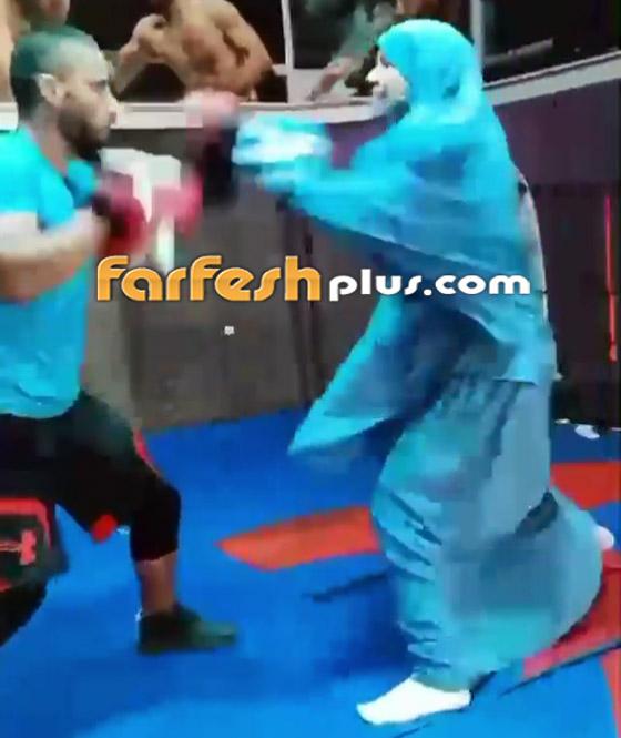 صورة رقم 4 - فيديو: فتاة محجبة تلاكم شابا بمهارة.. لم يمنعها حجابها من الرياضة