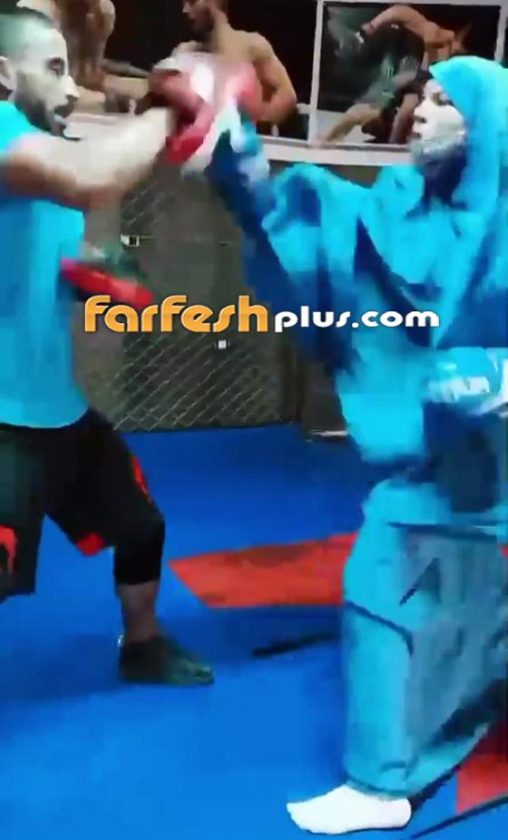 صورة رقم 5 - فيديو: فتاة محجبة تلاكم شابا بمهارة.. لم يمنعها حجابها من الرياضة