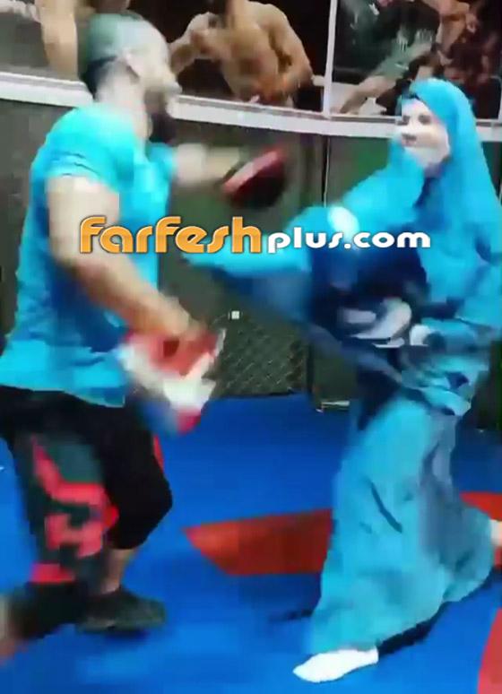صورة رقم 6 - فيديو: فتاة محجبة تلاكم شابا بمهارة.. لم يمنعها حجابها من الرياضة