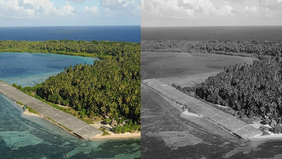 صورة رقم 2 - ينجيلاب.. جزيرة غريبة لا يرى سكانها إلا باللون الأبيض والأسود