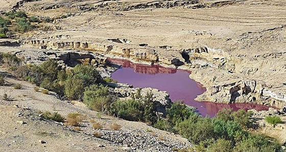 صورة رقم 3 - ضجة في الأردن.. بركة حمراء غريبة بجانب البحر الميت!