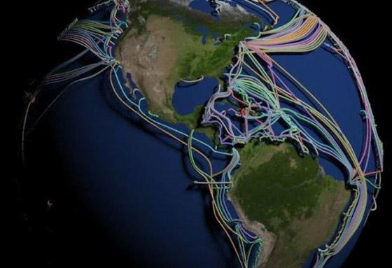 عالم غارق في الكابلات.. خارطة 3D مذهلة للكرة الأرضية! فيديو صورة رقم 6
