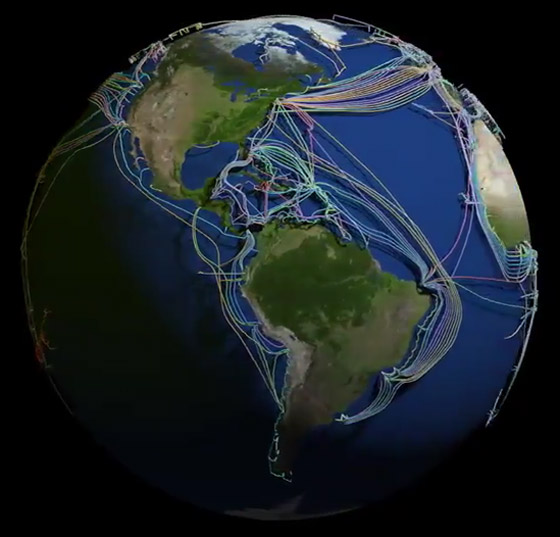 عالم غارق في الكابلات.. خارطة 3D مذهلة للكرة الأرضية! فيديو صورة رقم 10