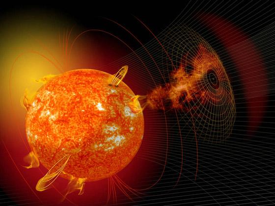 صورة رقم 1 - عاصفة شمسية كارثية قد تنهي العالم، والتحذير بشأنها قبل يوم واحد فقط!