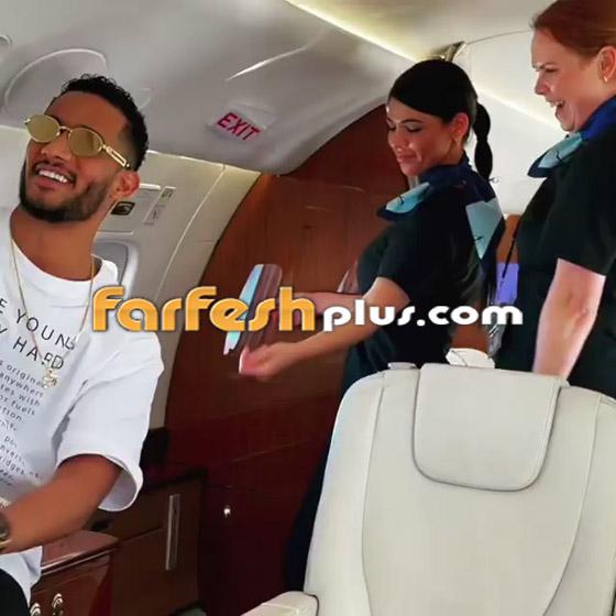 فيديو: محمد رمضان يرقص مع مضيفتي طيران داخل الطائرة.. ويعلق: المضيفة الفرفوشة صورة رقم 3