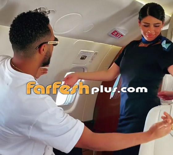 فيديو: محمد رمضان يرقص مع مضيفتي طيران داخل الطائرة.. ويعلق: المضيفة الفرفوشة صورة رقم 6