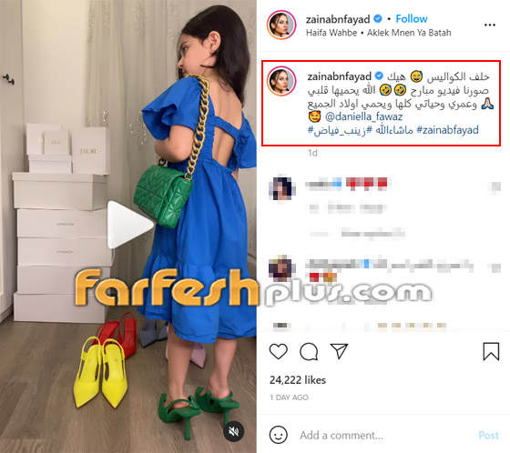 صورة رقم 2 - فيديو: حفيدة هيفاء وهبي تستعرض فساتينها على أغنية جدتها