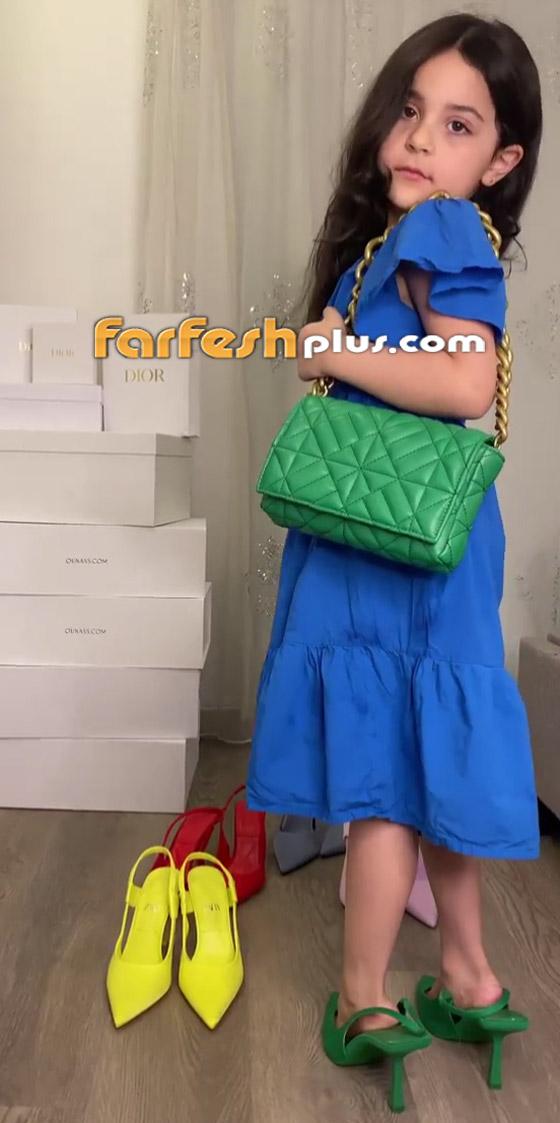 صورة رقم 5 - فيديو: حفيدة هيفاء وهبي تستعرض فساتينها على أغنية جدتها