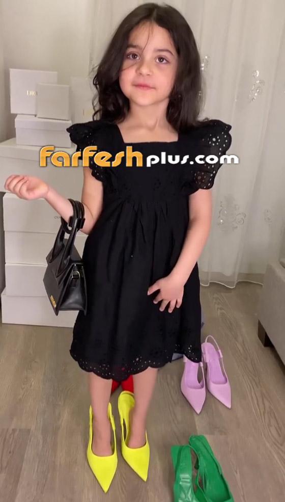 صورة رقم 6 - فيديو: حفيدة هيفاء وهبي تستعرض فساتينها على أغنية جدتها