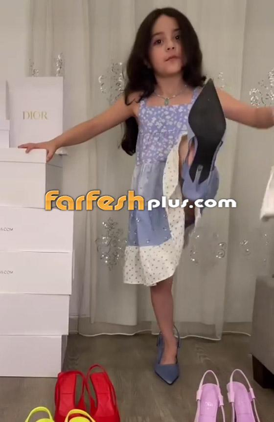 صورة رقم 9 - فيديو: حفيدة هيفاء وهبي تستعرض فساتينها على أغنية جدتها