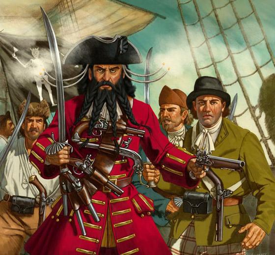 صورة رقم 4 - القصة الحقيقية خلف الأسطورة بلاكبيرد.. القرصان الذي أرعب الكاريبي