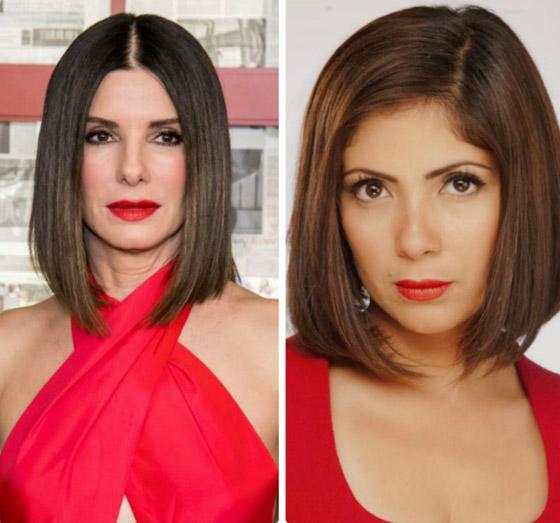 صورة رقم 4 - صور شبيهة منى زكي: الفنانة العالمية ساندرا بولوك.. هل فعلا تشبهها؟