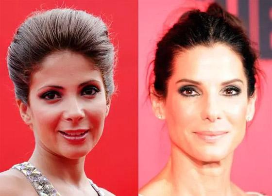 صورة رقم 5 - صور شبيهة منى زكي: الفنانة العالمية ساندرا بولوك.. هل فعلا تشبهها؟