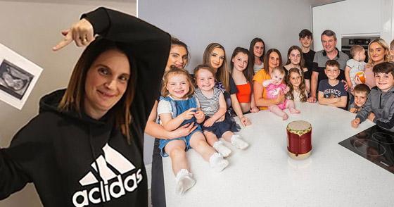 صورة رقم 14 - فيديو وصور: أم أكبر عائلة بريطانية (22 ولدا وبنتا) تروي أطرف وأصعب المواقف