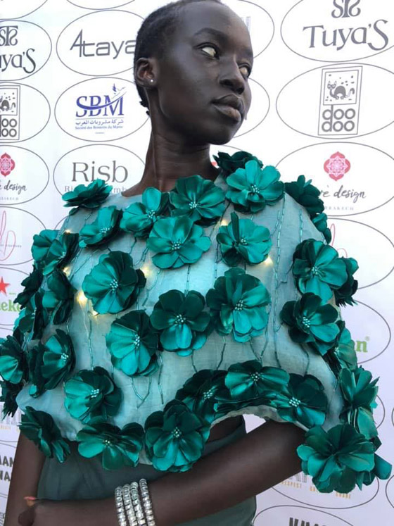صورة رقم 14 - فيديو وصور: عارضة أزياء سودانية تحارب العنصرية بطريقة أثارت استحسان الجمهور