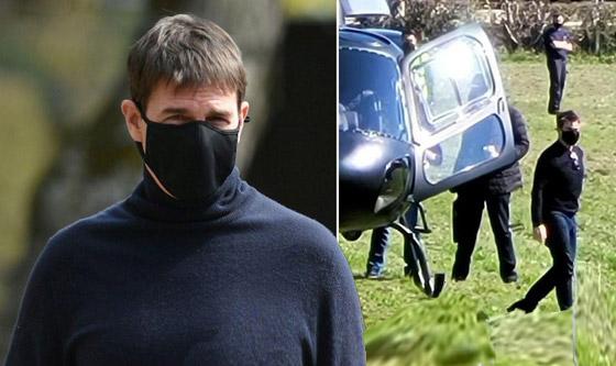 صورة رقم 2 - صور: توم كروز يفاجئ عائلة بريطانية ويهبط بطائرته في حديقة بيتهم.. لم يصدقوا حين خرج من المروحية!