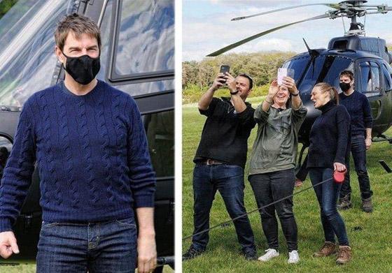 صورة رقم 1 - صور: توم كروز يفاجئ عائلة بريطانية ويهبط بطائرته في حديقة بيتهم.. لم يصدقوا حين خرج من المروحية!