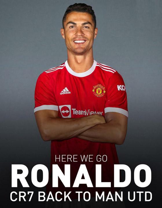 صورة رقم 5 - مانشستر يونايتد يُعلن رسميا عودة مع النجم البرتغالي كريستيانو رونالدو