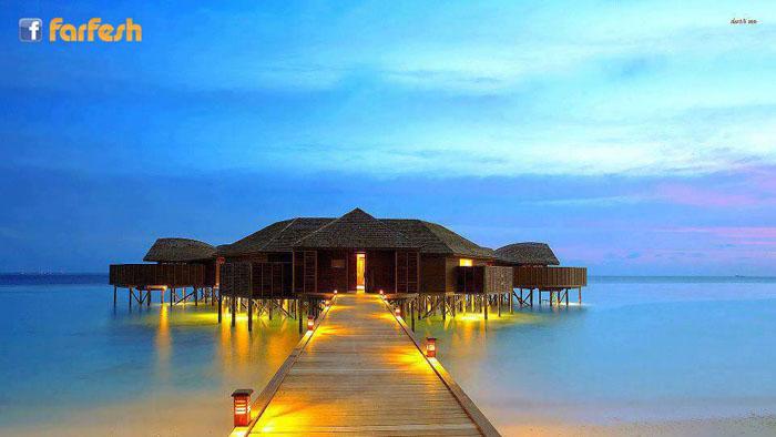 أحد المنتجعات الرائعه في جزر المالديف