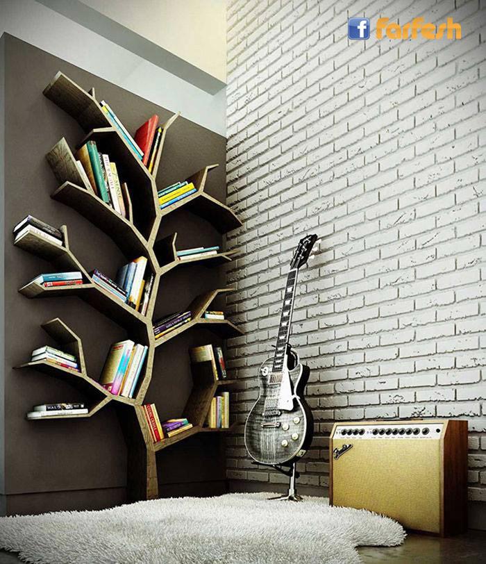 مكتبة على شكل شجرة شو رأيكو؟