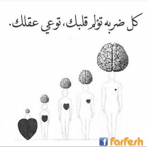 كل ضربة تؤلم قلبك توعي عقلك