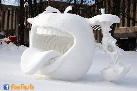روعة التصميم من الجليد
