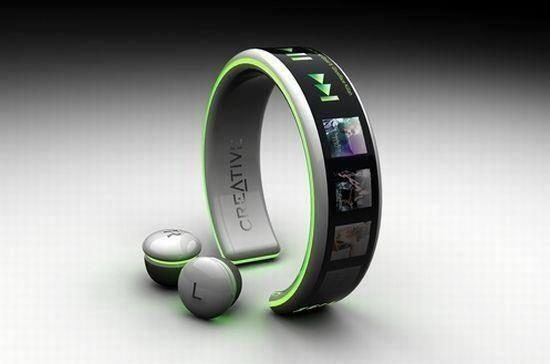 مشغل MP3 للمعصم يتم شحنه بنبضات اليد ..!