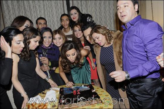 صورة رقم 4 - بالصور: نجوى كرم تحتفل بعيد ميلادها مع معجبيها في المغرب