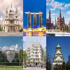 بينها الأهرامات ومسجد قبة الصخرة.. إليكم أجمل 50 مبنى حول العالم