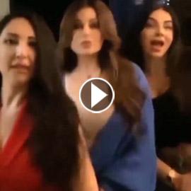 فيديو رقص هيفاء وهبي على أغنية (نظرة) لحكيم مع صديقاتها