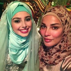 نادين نسيب نجيم وماريتا الحلاني بالحجاب من كواليس مسلسل (2020)