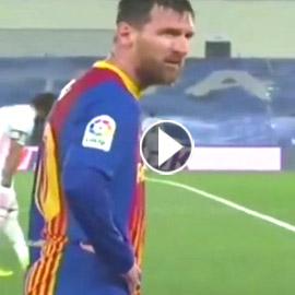 انظر إلى ميسي وهو يرتجف أثناء المباراة مع ريال مدريد