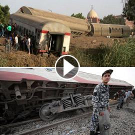 حادث قطار طوخ: 11 قتلى و100 جرحى بثالث حادث قطارات في مصر خلال شهر