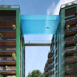 لندن على موعد مع افتتاح أول مسبح معلق شفاف بالعالم على ارتفاع 35 مترا