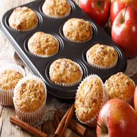 فطائر المافن بالتفاح.. وصفة لذيذة سريعة التحضير ومميزة للسحور