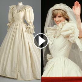 عرض فستان زفاف الأميرة ديانا للجمهور لأول مرة منذ عقود! فيديو وصور