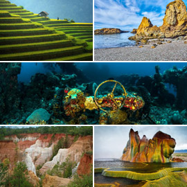 صور: تعرفوا على الأماكن الطبيعية الرائعة التي صنعها البشر على مر  ..