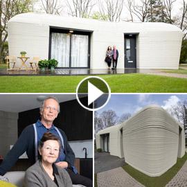 فيديو وصور: زوجان ينتقلان لأول منزل مطبوع ثلاثي الأبعاد بالكامل