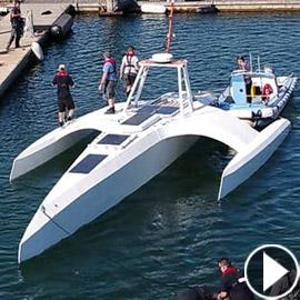 أول قارب ذكي بدون قبطان.. يستعد لعبور المحيط الأطلسي، وهذه مهامه