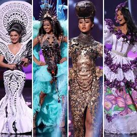صور: أبهر وأجمل الأزياء الوطنية في مسابقة ملكة جمال الكون 2021