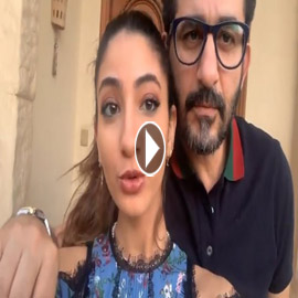 أحمد حلمي يرقص ويغني مع ابنته لي لي على تيك توك (فيديو)