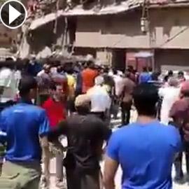 مصر.. انهيار عقار مأهول بالسكان في الإسكندرية