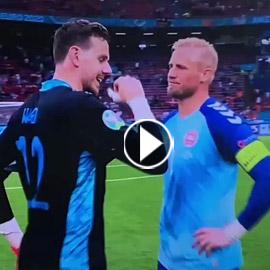 """حدث نادر في """"يورو 2020"""".. حارسان من فريق واحد وجهاً لوجه"""