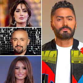 أزمات تامر حسني مع النجوم: سبب خلافه مع أحمد السقا، زينة وحلا شيحة!