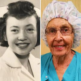 صور: أقدم وأكبر ممرضة أمريكية تعلن تقاعدها بعد عمل استمر 70 عاما