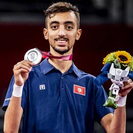 التونسي الجندوبي يحصد أول ميدالية عربية بالتايكوندو في أولمبياد طوكيو  ..