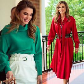 صور: الملكة رانيا بـ4 إطلالات عصرية أنيقة خطفت الأنظار خلال زيارتها  ..