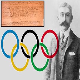 قيمته 8.8 مليون دولار.. ما قصة الخطاب الذي أوقد شعلة الحركة الأولمبية؟  ..