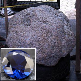 العثور على أكبر حجر ياقوت أزرق في العالم قيمته 100 مليون دولار